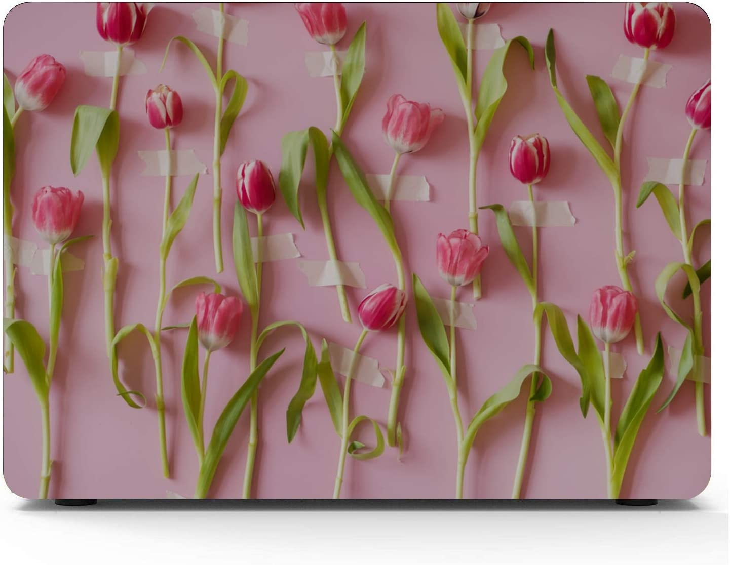 MacBook Accessories Romantic Sweet Pink Tulip Love Flower Plastic Hard Shell Compatible Mac Air 11 Pro 13 15 MacBook Pro Computer Case Protection for MacBook 2016-2019 Version