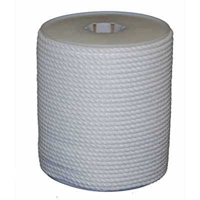 T.W Evans Cordage 81-010 1/4-Inch by 600-Feet Twisted White Polypro Rope, White - White Poly Rope - .com