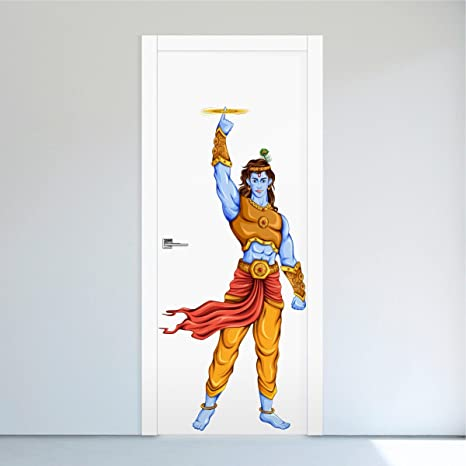 Buy Rawpockets Lord Krishna And Sudarshana Chakra Wall Sticker