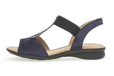Übergrößen Basic Sandaletten Gabor Comfort In Blau 065 Große 26 36 N8mv0Onw