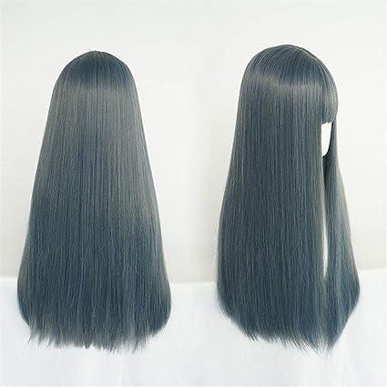 Peluca coreana Mujer de pelo largo Aire Bangs grandes de la manera ...