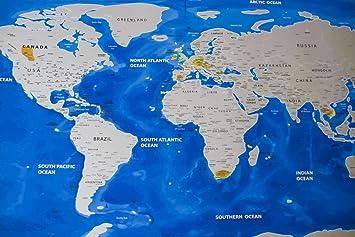 Carte Du Monde Realiste.Grattez Carte Du Monde Xxl Carte Du Monde Avec Des Us
