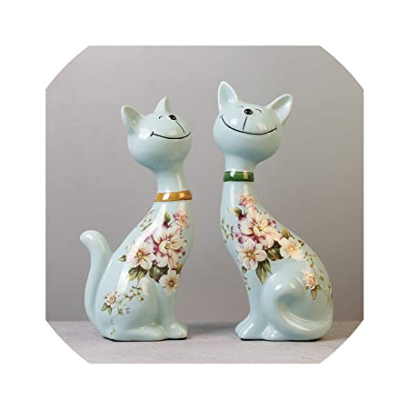 Sharing lives Figurines Crafts Figura Decorativa de Gato de la ...
