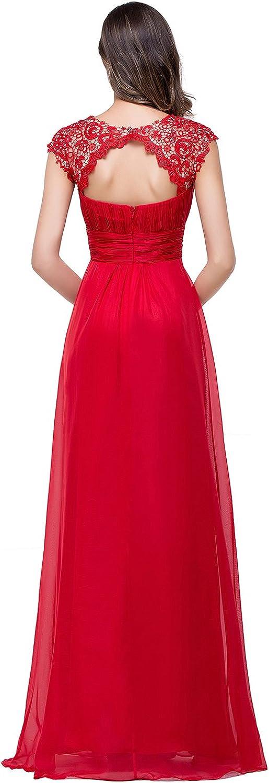 Babyonlinedress/® Elegant Damen Kurzarme Chiffon Lang Abendkleider Ballkleid