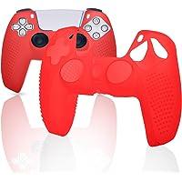 Película para controle PS5, capa para controle de silicone PS5 - vermelha