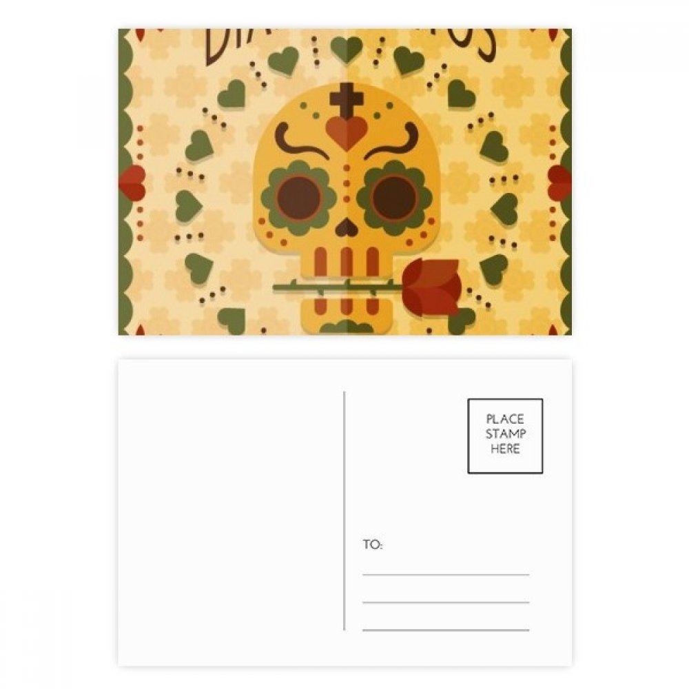 Amazon.com: Juego de postales con diseño de calavera rosa el ...