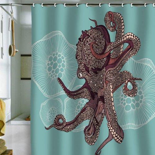 Deny Designs Valentina Ramos Octopus Bloom Shower Curtain, 69 x 72
