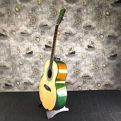 SUNXK Las Aves de Arce Ojo acústica Gente Guitarra acústica Spruce Guitarra Superficie Dorsal de la Guitarra acústica (Color : True Color, Size : 41 Inch)