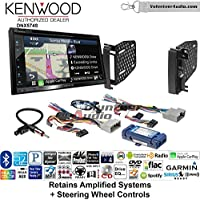 Volunteer Audio Kenwood DNX574S Double Din Radio Install Kit with GPS Navigation Apple CarPlay Android Auto Fits 2009-2010 Ram 2011-2014 Chrysler 200 (Retains Steering wheel controls)