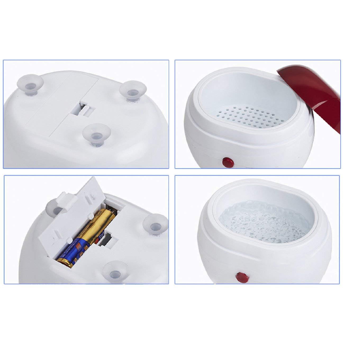 Rojo y blanco JIO-S Lavadora ultras/ónica port/átil Hogar Joyas Lentes Relojes Dentaduras M/áquina de limpieza Lavadora Limpiador Caja de limpieza