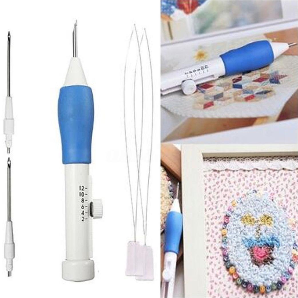 Sansee 1.3/1.6/2.2mm cucito fai da te diametro ricamo Magic ricamo penna abbigliamento punch ago strumenti White