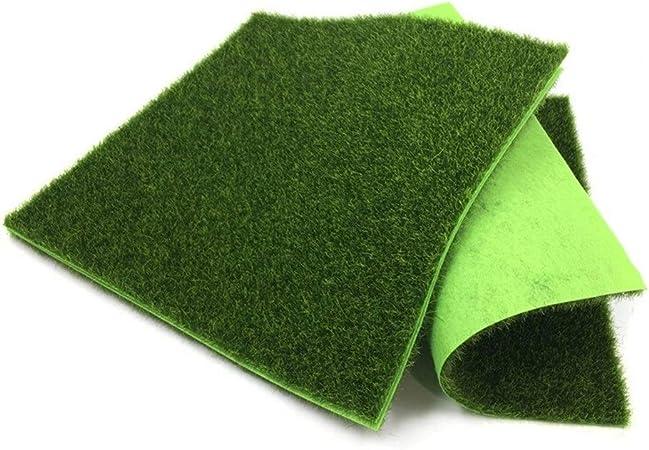 LOOEST Césped del jardín Falsos Planta de Reciclaje de plástico Flor 5pcs Césped Artificial artículos Flores Partido de la decoración Artificial para la decoración del hogar (Color : 5pcs 30x30cm): Amazon.es: Hogar