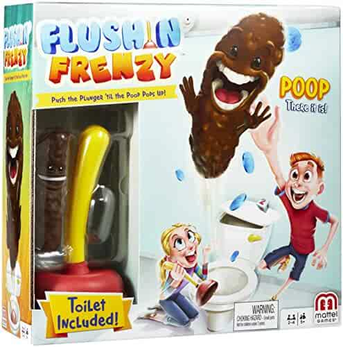 Flushin' Frenzy Game – Pop the Poop! (Toilet Included) Ages 5 and Up