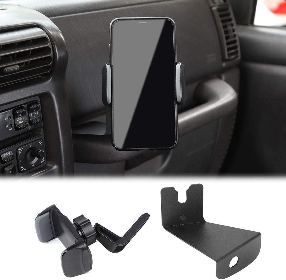 Metal Car Phone Clip Holder Walkie Talkie Bracket for Jeep Wrangler TJ 1997-2006