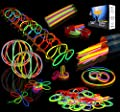 Joyin Toy 200 8'' Glowsticks Glow Stick Bracelets Glow Necklaces Party Favors Pack (7 Colors Total 456 PCs)