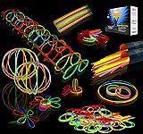 Joyin Toy 200 8'' Glowsticks Glow Sticks Bracelets Glow Necklaces Party ...