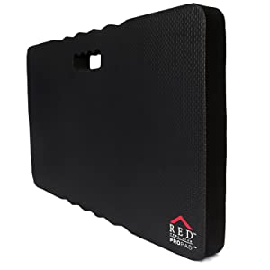 "RED Home Club Thick Kneeling Pad - Garden Kneeler for Gardening, Kneeling Pad for Work, Kneeling Mat for Exercise & Yoga - Extra Extra Large (XXL) 24x14, THICKEST 1-½"", Black"