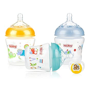Amazon.com: Nuby Natural Touch 3 Pack 6 onzas bebé botella ...