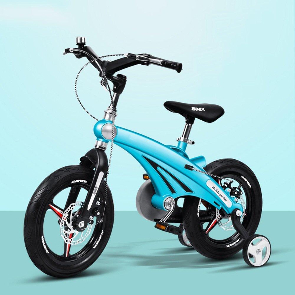 HAIZHEN マウンテンバイク 子供の自転車12/14/16インチの少年の自転車ベビーキャリッジマウンテンバイク自転車2-8歳のマグネシウム合金フレームダブルディスクブレーキ 新生児 B00ZJV2KBC 14 inch|青 青 14 inch