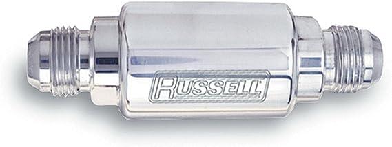 Edelbrock//Russell 645120 Chrome Aluminum Street Fuel Filter