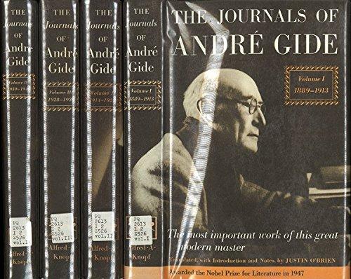 Journals of Andre Gide. (Four Volume Set)