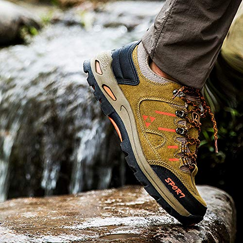 Mountaineering Clearance and up Lace Farjing Casual Shoes Men Women Khaki Outdoor Shoes Sale Women Running Comfortable H5wvqSpOTU