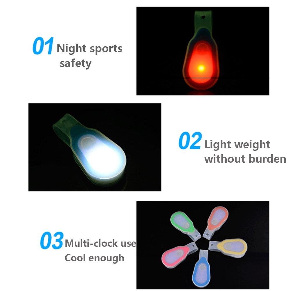 Ndier LED Manos Libres Luz Senderismo y Camping. Senderismo Densidad de Agua Linterna LED Seguridad Cuello Luz de Clip On magn/ético Ropa o Mochila para Running Night