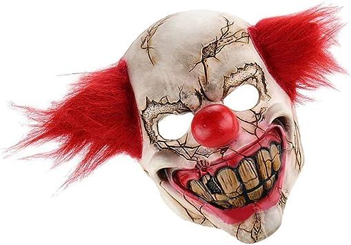 Hellery Máscara de Disfraces de Payaso de Demonio Rojo de ...