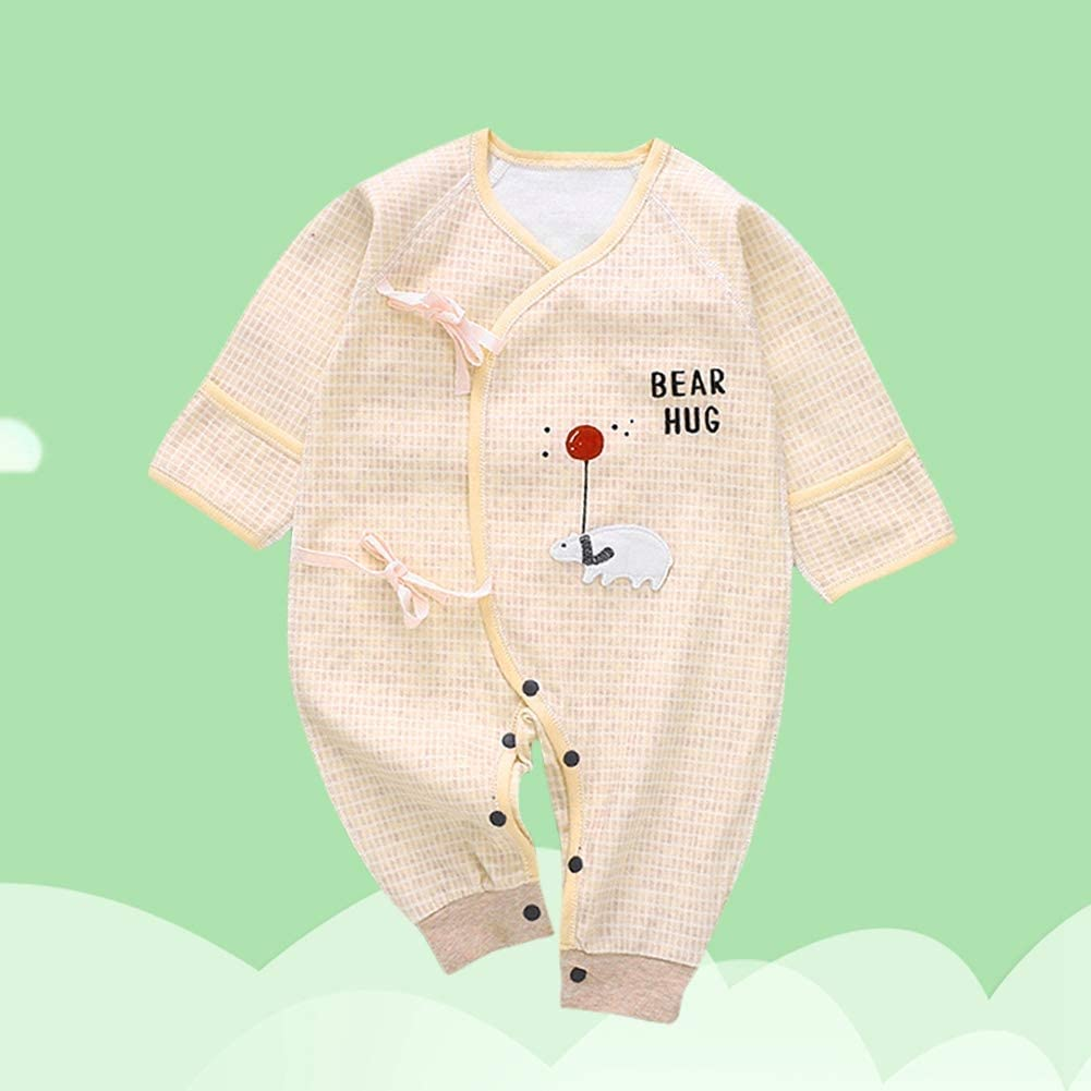 Tutina a maniche lunghe per neonato Simpatica tutina per cartoni animati per Toddler Tuta in cotone morbido per Neonate Pink52