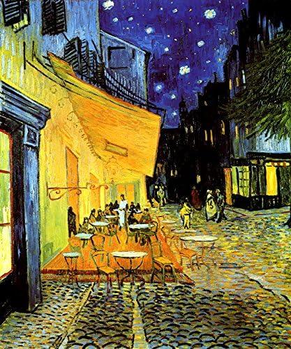 Amazon.com: Terraza de café por la noche Estrellas Paris ...