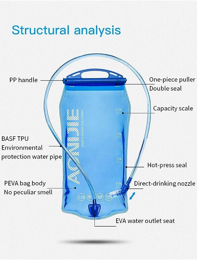 compacta exterior bolsa de agua senderismo WG mochila de hidrataci/ón para airsoft camping dep/ósito de agua Bolsa de hidrataci/ón