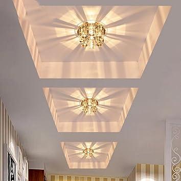 Ronde Conduit Cristal Couloir Allees Lumieres Chambre Plafond Lampe