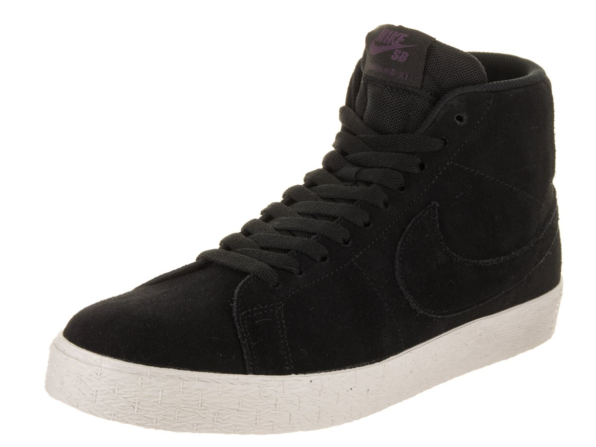 NIKE Men's SB Zoom Blazer Mid Decon Black/Black Pro Purple Skate Shoe 8 Men US