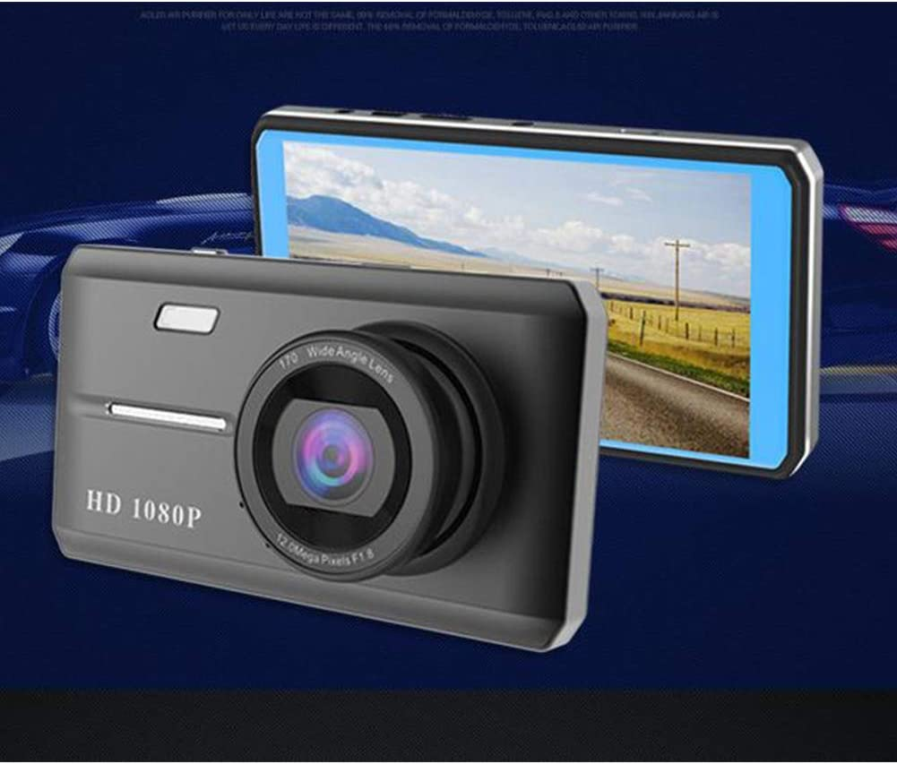 DishyKooker 4.5-inch Touch-screen Dashcam Dual Lens 170-degree Wide-angle Night Vision HD 1080P on-board DVR