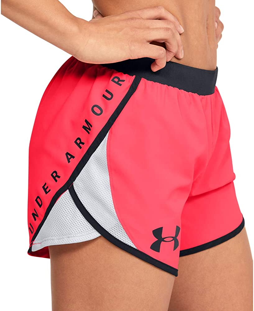 Under Armour Women's Fly By 2.0 Wordmark Running Shorts : Clothing