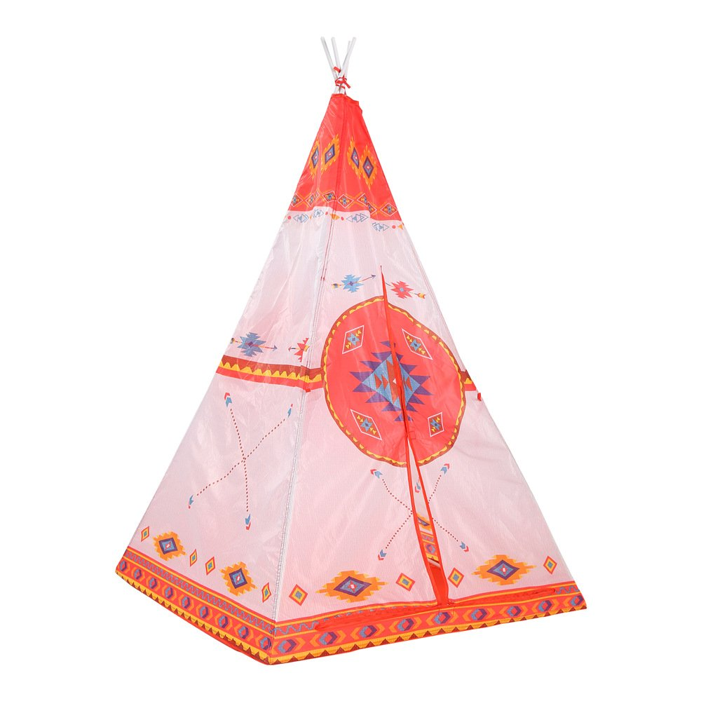 greensen Rocket Ship Knights Castle Play Tent for Kids Circus Fairy TaleフォレストTeepee Playhouse for Boys & Girls One Size オレンジ Childtent-001 B07DB8G1M1 Orange Indian