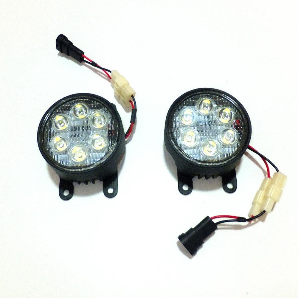 July King Led Day Running Lights 6500k 1260lm 18w H11 Fog Lamp Triton Complete Lamps Assembly For Mitsubishi L200 20082017 Automotive