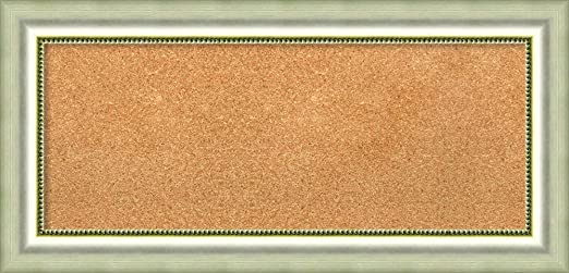 22.75 x 16.75 Tan Cork Boards Farmhouse Brown Narrow Frame Framed Bulletin Boards Framed Tan Cork Board Bulletin Board
