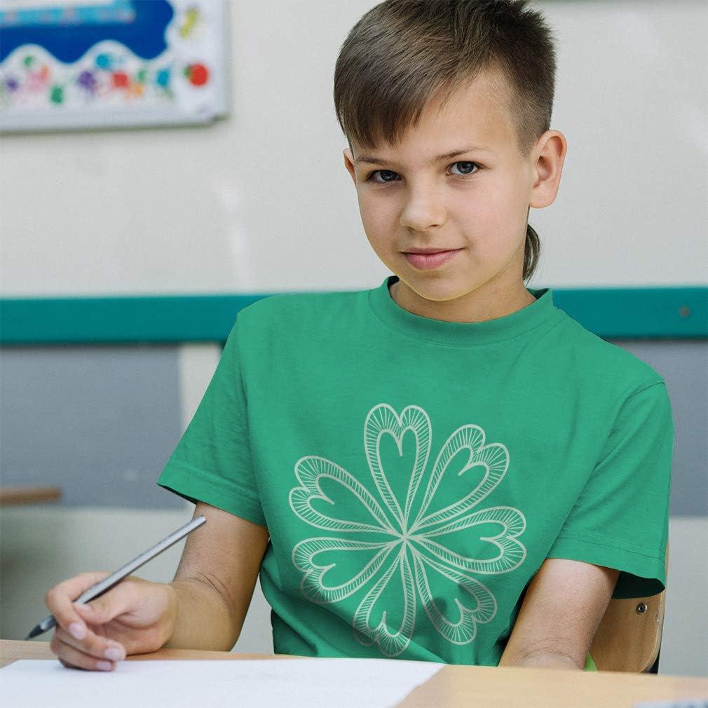 Custom Toddler T-Shirt Heart Flower Light Grey Cotton Boy /& Girl Clothes