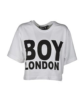 7d6e3d8a9340 BOY London T-Shirt Donna BL1035 Corta con Stampa  Amazon.co.uk  Clothing