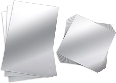 48 Pieces Flexible Mirror Sheets Non-Glass Mirror Stickers Creative Stickers