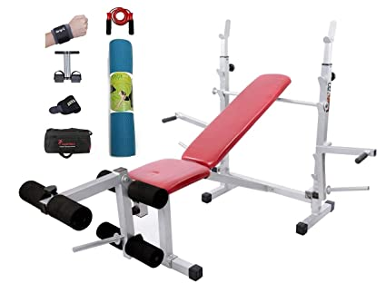 Lifeline Multi Bench Home Gym   Bundles with Yoga Mat, Neoprene Wrist  Support and Accessories 6e104004a1