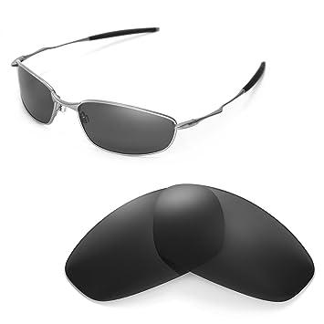HKUCO For Oakley Whisker Silver Polarized Replacement Lenses and White Earsocks Rubber Kit LVDnTgAvDO