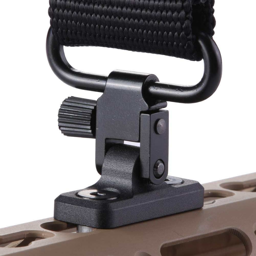 TuFok Keymod Sling Mount Stud - Gun Sling Attachment for Key Mod System, fit Uncle Mikes Style Sling Swivel, Low Profile Design,Aluminum (Black) by TuFok