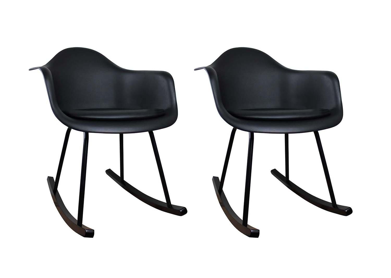 Meubletmoi - Juego de 2 sillas de Escalas Negras - sillones ...