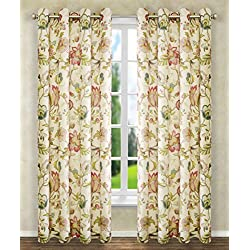 Ellis Curtain Brissac Grommet Panel, 50 x 84, Red
