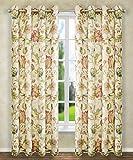 Ellis Curtain Brissac Grommet Panel, 50 x 63, Red