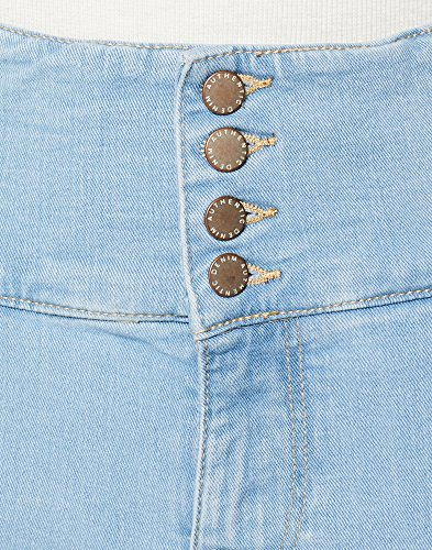 New Highwaist light Skinny Look Blue Donna Jeans 45 Blu zrqz5