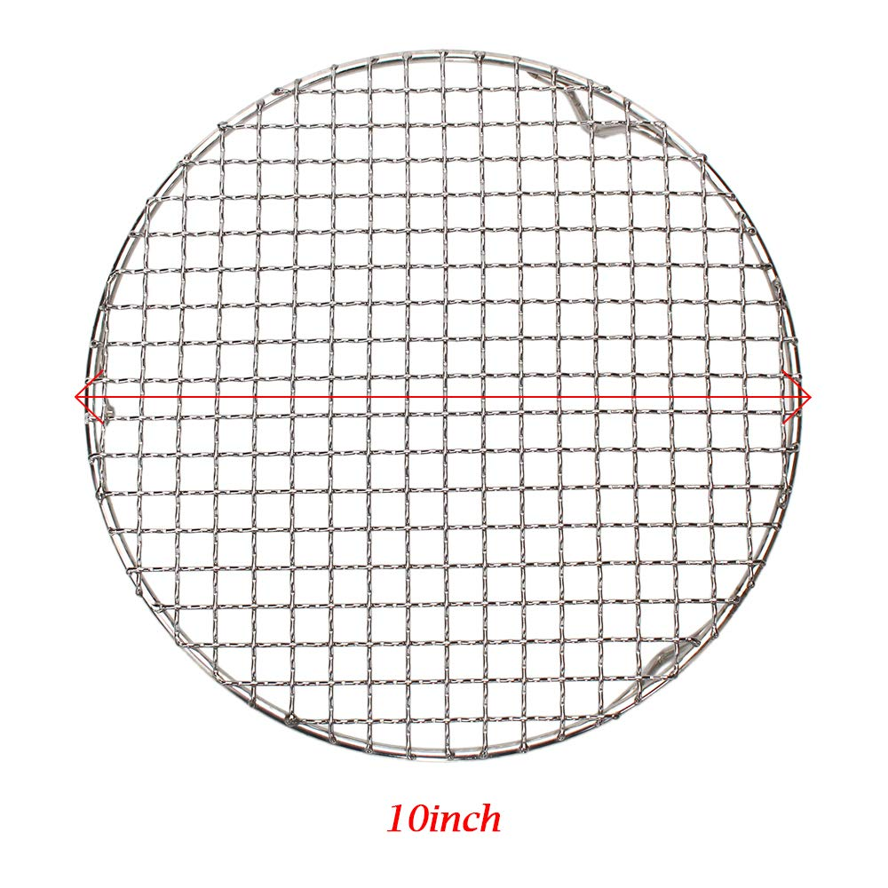 M-Aimee 1Pack Multi-Purpose Round Stainless Steel Cross Wire Steaming Cooling Barbecue Racks/Carbon Baking Net/Grills/Pan Grate with Legs (Diameter 10 Inches) by M-Aimee (Image #3)