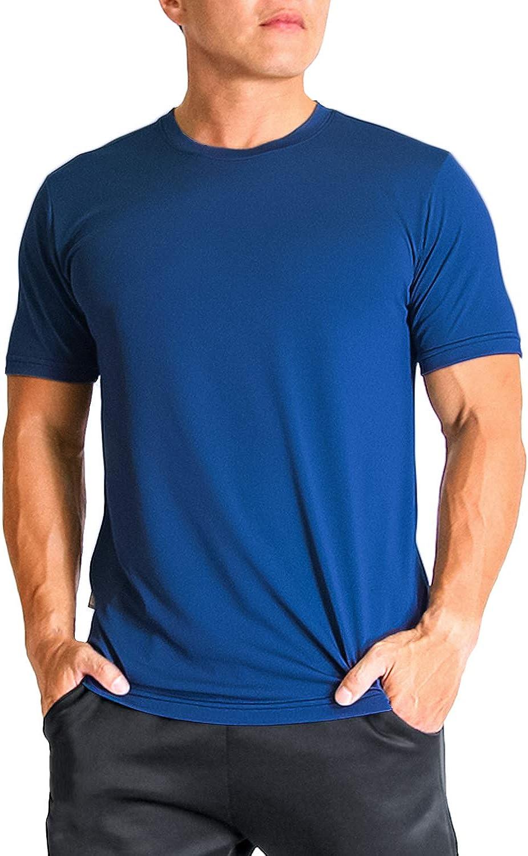 UV Sun Protection Short Sleeve T-Shirt NKT01 Litume Mens Quick Dry Odor Control